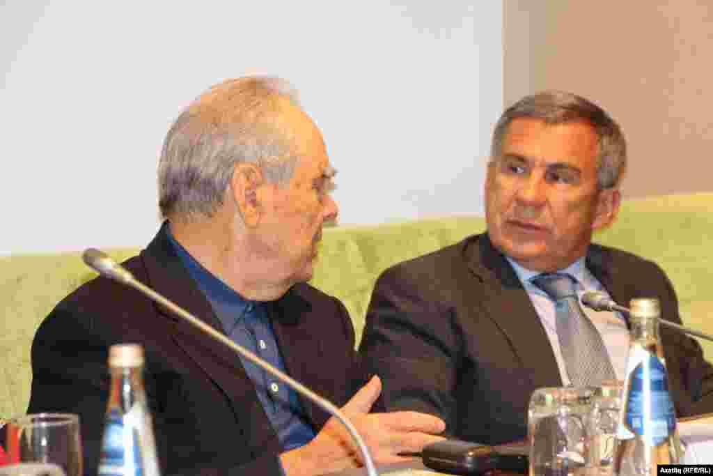 Татарстанның элекке һәм хәзерге президентлары - Шәймиев һәм Миңнеханов