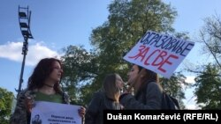 Demonstranti u centru Beograda