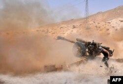 Артиллерия правительственных сил у Пальмиры