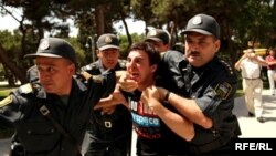 Detained Baku Protester