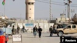 Pamje e jashtme e bazës Bagram në Afganistan, ku sot ka eksploduar një pajisje