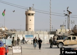 The booming economy that grew up around Bagram Airfield has been hit especially hard by the U.S. drawdown. (file photo)
