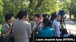 Өрт болгон жердеги кыргызстандыктар