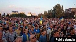 Маріупольці на акції 28 серпня 2014 року