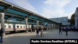 Запуск электрички. Донецкий вокзал, 19 августа 2019 года