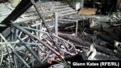 Последствия пожара в одесском Доме Профсоюзов 2 мая 2014 года