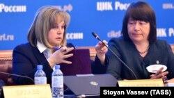 Ռուսաստան - ԿԸՀ նախագահ Էլլա Պամֆիլովան հրապարակում է նախագահական ընտրությունների արդյունքները, Մոսկվա, 23-ը մարտի, 2018թ․