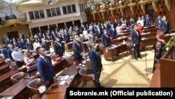 Фотографија од Конститутивна седница на Собрание на Република Северна Македонија