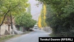 Тажикстандын чек арадагы Кожалы айылындагы жол. Ушул жол Баткендин Ак-Сай айылына, андан ары Ворух анклавына алып барат.
