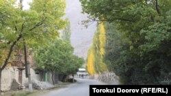Транзитная дорога через таджикское село Кожо-Аъло.