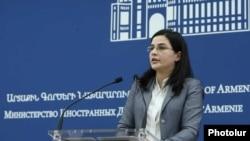 Пресс-секретарь Министерства иностранных дел Армении Анна Нагдалян (архив)