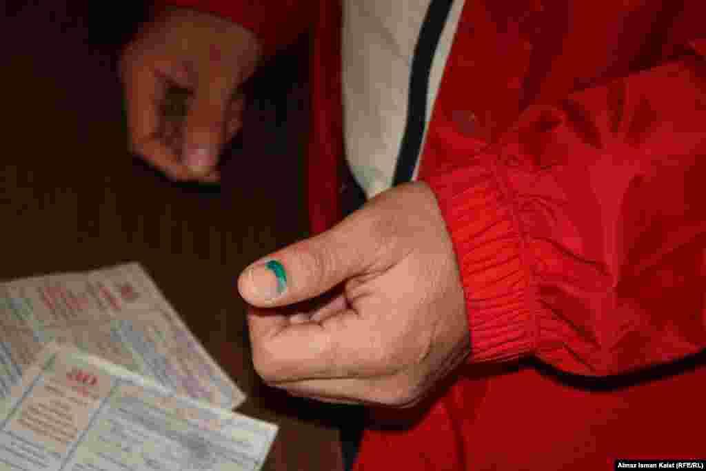 Маркировка для исключения повторного голосования.