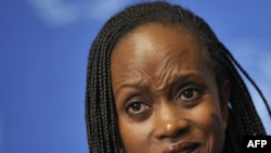 The U.S. State Department's Esther Brimmer answers a question during a press conference following the U.S. review