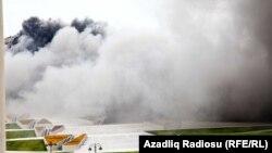 Пожар в Центре Гейдара Алиева. Баку, 20 июля 2012