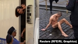 As Russians wondered about Nadezhda Tolokonnikova's location, performance artist Pyotr Pavlensky staged a provocative protest.