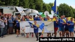 Dolazak učesnika Marša mira u Memorijalni centar Potočari