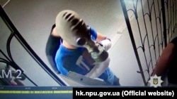 An attack on an LGBT office in Kharkiv was caught on CCTV footage in July 2018.