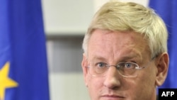 Swedish Foreign Affairs Minister Carl Bildt, who is chairing the foreign ministers' meeting as Sweden holds the rotating EU Presidency, said ministers would instead discuss ways of showing support for the Palestinians.