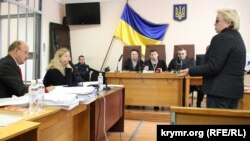 Журналістка Тетяна Ріхтун на суді у справі екс-депутата Галичого, 18 жовтня 2016 року