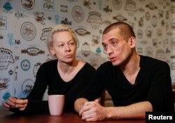 Оксана Шалыгина и Петр Павленский