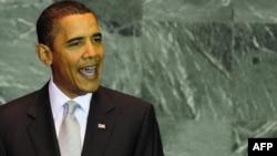 باراک اوباما به هنگام سخنرانی در مجمع عمومی سازمان ملل متحد، سهشنبه ۳۱ شهريور ۱۳۸۸