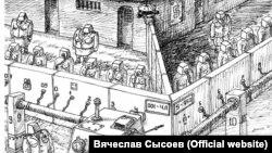 """Карикатура В.Сысоева из серии """"Болваны"""""""
