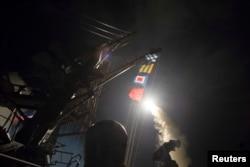 """Запуск одного из американских """"Томагавков"""". 7 апреля"""