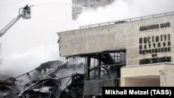 Пожар в здании фундаментальной библиотеки института РАН, 31 января 2015 год