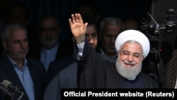 Iranian President Hassan Rouhani is seen during a public speech in the northern province of Gilan, Iran March 6, 2019.