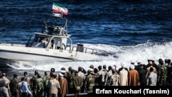 Iran's Naval exercises in Persian Gulf on 2016.