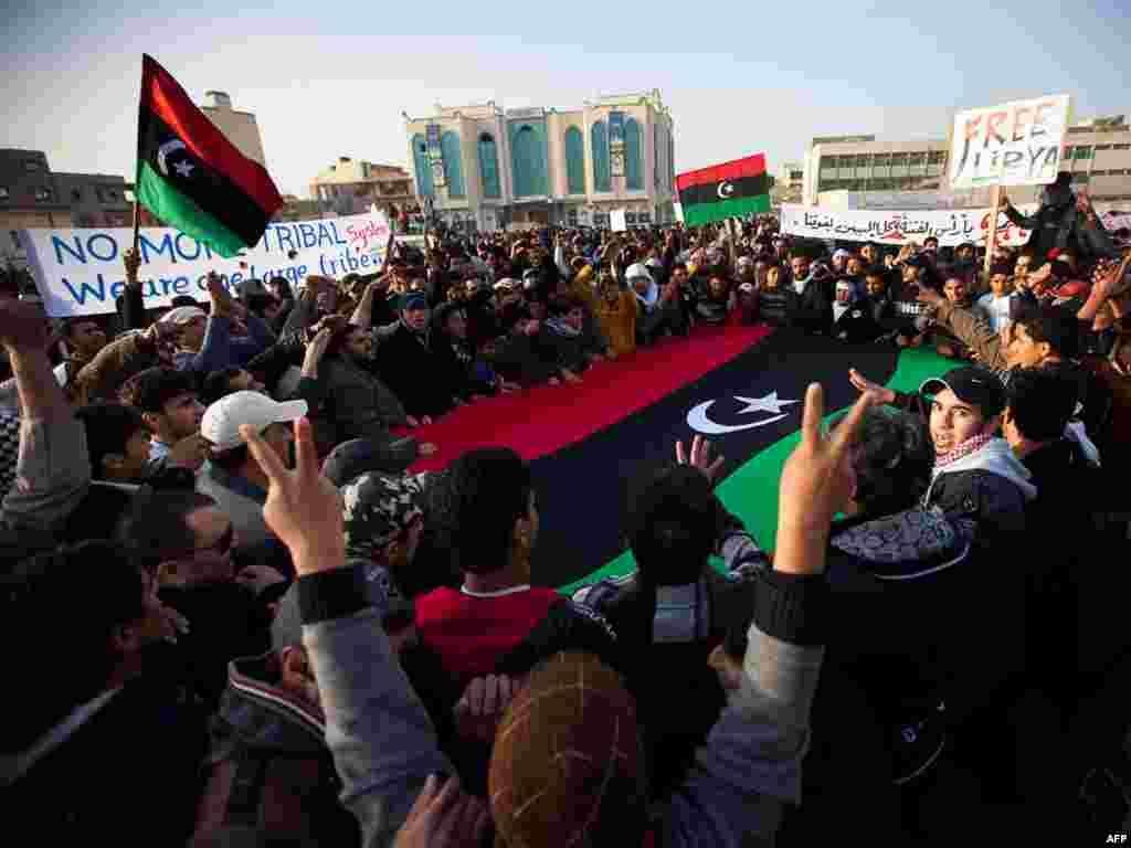 تظاهرکنندگان در شهر توبروک