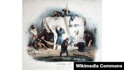 Француская карыкатура на літаратурных крытыкаў, прыблізна 1830 год