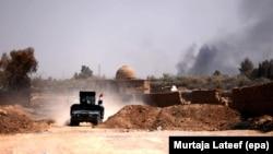 Мосул қаласына жақын елді мекенде жүрген Ирак армиясының әскери көліктері. 23 тамыз 2017 жыл (Көрнекі сурет)
