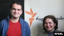 """არნო სტეპანიანი, საზოგადოებრივი მოძრაობა """"მრავალეროვანი საქართველოს"""" თავმჯდომარე (მარცხნივ) და ლია მუხაშავრია, ორგანიზაცია """"ადამიანის უფლებათა პრიორიტეტის"""" ხელმძღვანელი"""