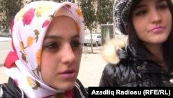Азербайджанская девушка в хиджабе