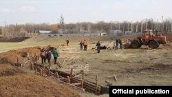 Строительство линии обороны вокруг Харькова