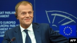 Polish Prime Minister Donald Tusk appears set to win a second straight term following parliamentary elections.