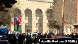 Azerbaijan – city of Ganja in expectation of President Ilham Aliyevs visit, 09Feb2011