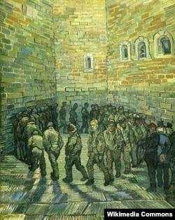 Вінсэнт ван Гог, «Прагулка вязьняў» (1890)