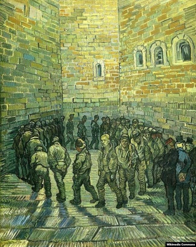 Вінсэнт ван Гог «Прагулка вязьняў» (1890)