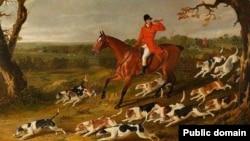 Джон Фрэдэрык Герынг, «Паляваньне на ліса з ганчакамі» (1831)