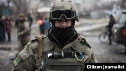Украиналык аскер.