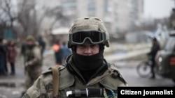 Украинский военнослужащий.