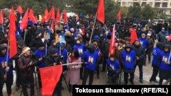 Митинг сторонников Садыра Жапарова.