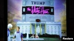 Imagine care arată ce a spus președintele Barack Obama la tradiționala cină a corespondenților de presă că va deveni Casa Albă dacă Donald Trump ajunge președinte al Americii. Trump a fost prezent la cina organizată în 30 aprilie 2011.