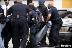 Задержания участников беспорядков