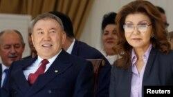 Қазақстанның бұрынғы президенті Нұрсұлтан Назарбаев пен оның үлкен қызы Дариға Назарбаева.