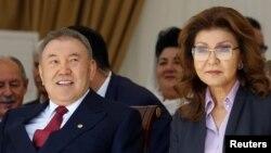 Президент Казахстана Нурсултан Назарбаев с дочерью Даригой Назарбаевой.