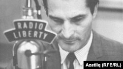 Germany -- Garif Soltan, Tatar-Bashkir language broadcaster with Radio Liberty. Munich, undated.