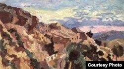 Луканский пейзаж. Полотно работы Карло Леви.
